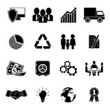 Set of 16 flat business icons. EPS10 Royalty Free Stock Photo