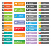 Set of Flat Buttons Royalty Free Stock Images