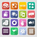 The set of flat casino icons Royalty Free Stock Photos