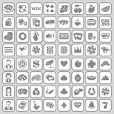 The set of flat casino icons. Royalty Free Stock Images