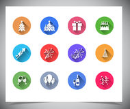 Set of flat color buttons. Stock Photo