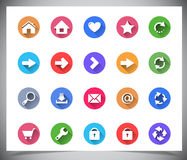 Set of flat color buttons. Stock Images