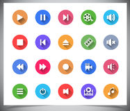 Set of flat color buttons. royalty free stock photos