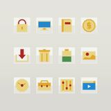 Set of flat color icons Stock Photography