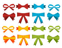 A set of flat color ribbons. For decoration holiday decor Stock Photos