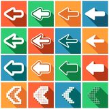 Set of flat colored simple web icons (arrows),  illustration Royalty Free Stock Photography