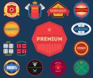 Set of flat colored vintage labels Stock Image