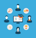 Set of flat concept icons for education, icons for education Stock Photo