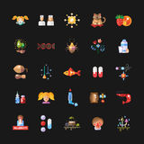 Set of flat design allergy and allergen icons Royalty Free Stock Photography