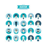 Set of flat design avatar icons for medicine vector illustration