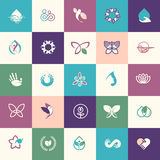 Set of flat design beauty and healthcare icons Stock Images