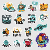 Set of flat design business icons royalty free illustration