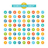 Set of flat design business people concept icons Stock Images