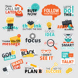Set of flat design business stickers Stock Photo