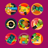 Set of flat design circle option infographics Royalty Free Stock Image