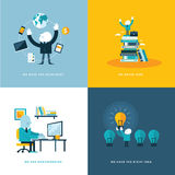 Set of flat design concept icons for business Royalty Free Stock Images