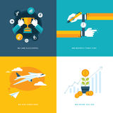 Set of flat design concept icons for business Royalty Free Stock Photos