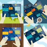 Set Of Flat Design Concept Icons For Business Royalty Free Stock Photo