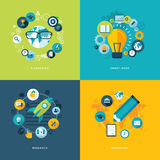 Set of flat design concept icons for education Stock Images