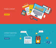Set of flat design concept icons for web and Royalty Free Stock Photos