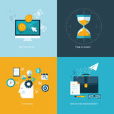 Set of flat design concept icons for web and mobil Royalty Free Stock Photography