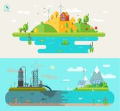 Set of  flat design concept illustrations Royalty Free Stock Photography
