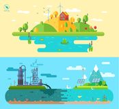 Set of  flat design concept illustrations Royalty Free Stock Image