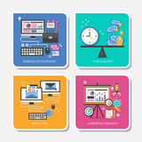 Set of flat design concept vector illustration Royalty Free Stock Photo