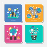 Set of flat design concept vector illustration Royalty Free Stock Photos