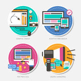 Set of flat design concept vector illustration Stock Photo