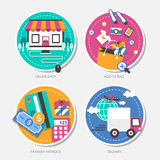 Set of flat design concept vector illustration Stock Image