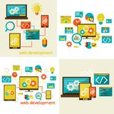 Set of flat design concept  for web Stock Images