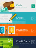 Set of flat design concepts payment online Royalty Free Stock Image