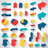 Set of flat design elements arrows and banners Stock Photo
