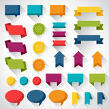 Set of flat design elements banners and tags Royalty Free Stock Photo