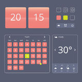 Set of flat design elements, widgets and icons Royalty Free Stock Image