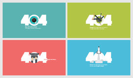 Set of flat design 404 error page templates Stock Photography
