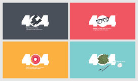 Set of flat design 404 error page templates Royalty Free Stock Image