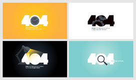 Set of flat design 404 error page templates Stock Photos