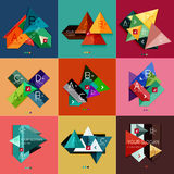 Set of flat design geometric infographic templates Stock Photo
