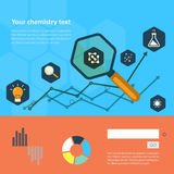 Set of flat design icon for experiment Royalty Free Stock Photo