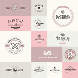 Set of flat design icons for beauty and cosmetics. Set of vector flat design icons for beauty and cosmetics Royalty Free Stock Photo