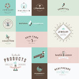 Set of flat design icons for beauty and cosmetics Stock Photos