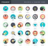 Set of flat design icons for business and banking Royalty Free Stock Photography