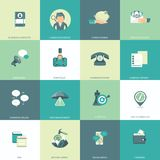 Set of flat design icons for business, pay per click, creative process, searching, web analysis, work-flow, on line shopping stock illustration