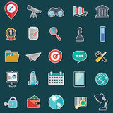 Set of flat design icons for Business, SEO and Social media marketing Stock Photography