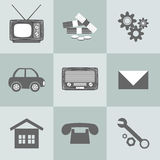 Set of flat design icons for Business. Vector set of flat design icons for Business Stock Images
