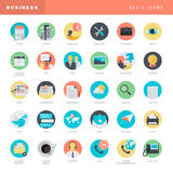 Set of flat design icons for business Stock Photo