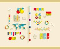 Set of flat design icons Royalty Free Stock Photography