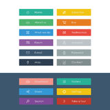 Set of flat design icons in colorful bars for Royalty Free Stock Images